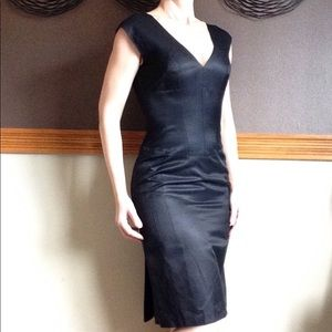 NARCISO RODRIGUEZ hot black cocktail dress 2 4